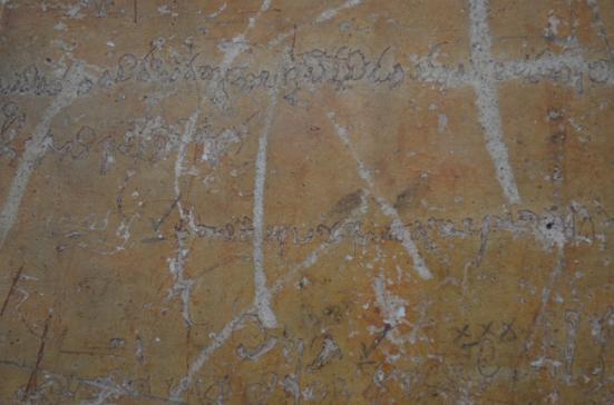 Old Mirror Wall Graffiti