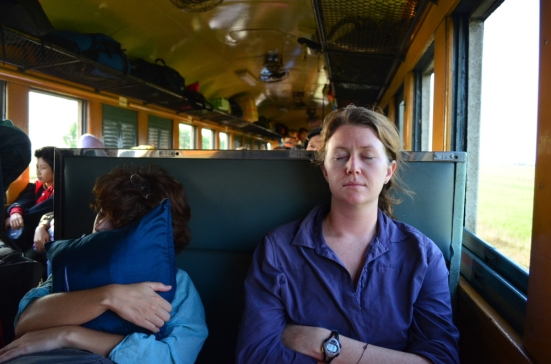 Resting on the Train