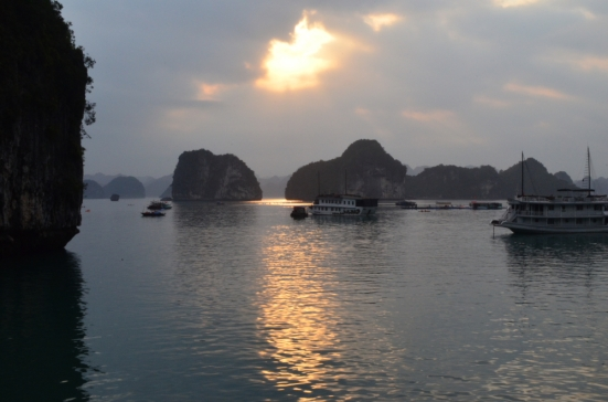 Sunset on Halong Bay